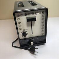 Vintage GE Toaster 2-Slice General Electric Model A6T86, 900 W, Chrome Black MCM