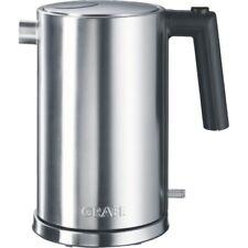 Graef WK 600 Edelstahl Wasserkocher schnurlos 1,5 l Fassungsvermögen Kalkfilter