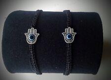 Pulsera amuleto Mano Fatima mal de ojo color hilo a escoger negro rojo azul ...