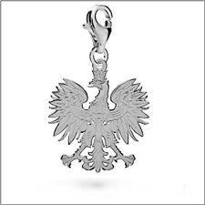 Anhänger Charm - Polnischer Adler Echt 925er.Sterling Silber 22/17mm TOP  LK0471
