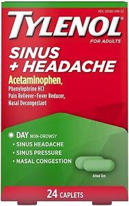 TYLENOL SINUS/HEADACHE DAY CAP 24CT
