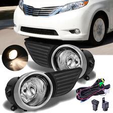 Fog Light Driving Lamp For Toyota Sienna 2011-2017 W/Bezel Switch Wiring Kit