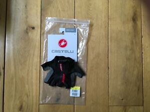 New Castelli Tempo V Cycling Gloves - Black Small