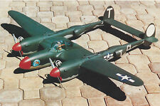 1/12 Scale American WW-II Lockheed P-38 Lightning Plans,Templates & Instructions