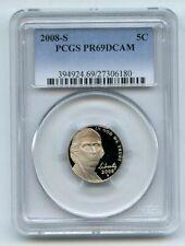 2008 S 5C Jefferson Nickel PCGS PR69DCAM