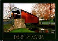 Vintage Postcard Erbs Bridge Covered Pennsylvania Unposted