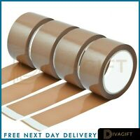 Buff Brown Clear Packaging Parcel Packing Tape Strong Fragile 45mm x 50m