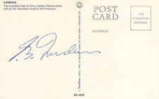PIERRE E. TRUDEAU (CANADA) - PICTURE POST CARD SIGNED