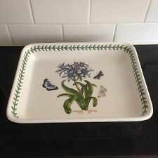 "Portmeirion 12""  Botanic Garden African Lily/Agapanthus Lasagna/Baking Dish EUC"