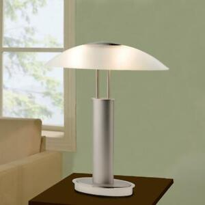 ARTIVA  Avalon 2-Tone Nickel Table Lamp with Frosted Glass & 3-Way Touch Switch
