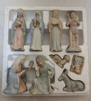 Vintage 1983 Lefton The Christopher Collection 9 Piece Nativity Set 00350 Taiwan