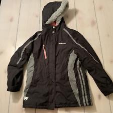 girls 16 zeroxposur winter jacket coat outer shell black pink fur hood