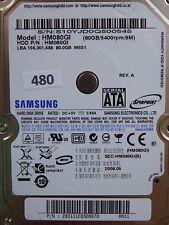80 Go Samsung hm080gi | P/N: 283111cq500970 m5s1 | 2008.05 #480