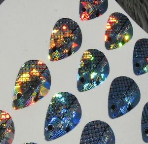 Holographic Glo-Buster Replacement Decals Indiana Blade Size 3-4 Lot of 140 A3