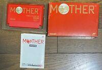 Mother Earthbound Famicom Nintendo NES FC Box Manual Japan