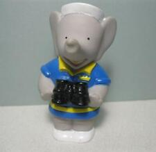 """Arbys 1990 Babar the Elephant in blue suit clothes w/ binoculars 3"""" PVC Plastic"""