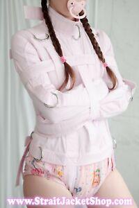 Pink Straitjacket - Restraining Straight Jacket ABDL Bondage Device High Quality
