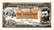 SET OF 4 NED KELLY NOVELTY BANK NOTES 10s 1 Pound 5 Pound 10 Pound  pre decimal