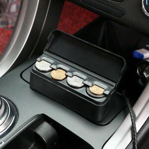 Car Interior Accessories Car Coin Case Organizer Storage Box Plastic Holder