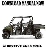 Polaris RANGER 800 CREW factory repair shop service manual on CD (2013)