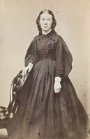 ~Civil War Photo Portrait Of Lovely Young Woman~Two Cent Revenue Stamp c1860~