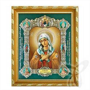 Icon Mother of God emotion wood 21x18 K Умиление икона