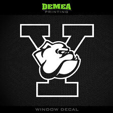 "Yale - Bulldogs - NCAA - White Vinyl Sticker Decal 5"""