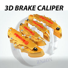 4pcs Gold 3D Styling Disc Brake Caliper Cover Kit For Lexus 16-18 inch wheels