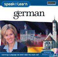 Speak & Learn German  XP Vista 7 8 10 MAC  New Sealed  Fast & Fun Way to Learn