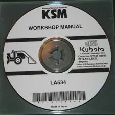 KUBOTA LA534 LOADER SERVICE SHOP REPAIR WORKSHOP MANUAL CD DVD