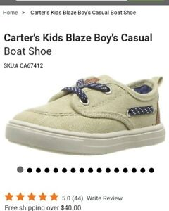 Carters Kids BLAZE2 Canvas Beige Slip on Toddlers 7