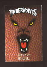 Minnesota Timberwolves--1998-99 Pocket Schedule--McDonald's