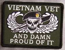 Embroidered Military Patch Vietnam Veteran and Damn Proud Of It NEW muted 06