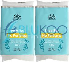 Urtekram Organic No Perfume Soap Bar - 100g (Pack of 2)