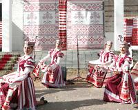 Antique Belarus 1900s Towel Hutsul folk ethnic embroidered linen old 310 cm