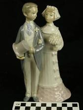 Retired #4808 Lladro Bride & Groom Wedding Day Cake Topper Figurine (Hh)