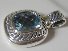 $950 DAVID YURMAN 14K,SS ALBION BLUE TOPAZ ENHANCER