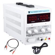 30V 10A DC Power Supply Precision Variable Digital Adjustable Clip Cable VAT