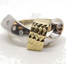 14k 2 tone Gold Ladies Contemporary Ring Sz 6