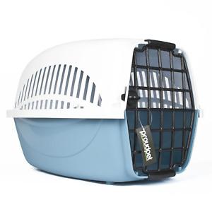 Hard Blue Pet Carrier Vented Cat Dog Animal Crate Vet Portable Bed