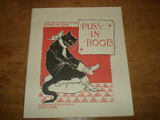 CRANE, WALTER -  Puss in boots.1981,Facsimile edition   PAPERBACK