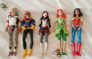 """DC Superhero Girls- 6 x Small Figures 6"""" - Pre-owned"""