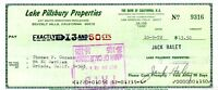 Jack Haley Wizard Of Oz Jsa Authenticated Signed Check Autograph