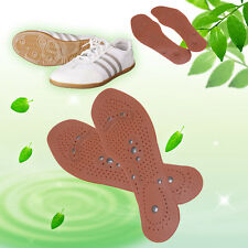 Health Clean Foot Feet Care Magnetic Therapy Massage Insole Shoe Boot Thenar Pad