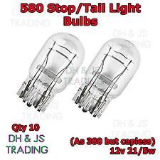 10 x 580 Rear Brake Tail Light Bulbs Car Auto Van Bulb Toyota Auris 2006 - 2012