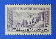 1932 ANDORRA FRENCH 2c SCOTT# 24 MICHEL # 25 UNUSED                      CS26170