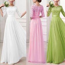 Women Clothing Formal Long Lace Chiffon Prom Party Dress Summer Long Dresses US