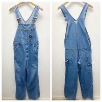 VTG Oshkosh Vestbak Work Denim Jeans Adult Mens Bibs Overalls sz 32 x 32