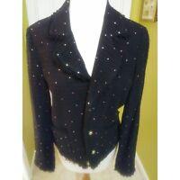 Black Sparkling Tweed Blazer