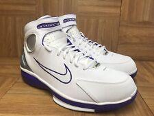size 40 af186 96493 VNTG🔥 Nike Air Zoom Huarache 2K4 KB White Silver Purple Sz 9.5 511425-115